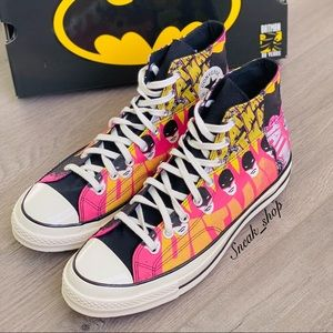 NWT Converse X Batman Chuck 70 High Top Mens Shoes